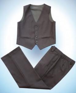 116  - 128 Комплект д/м брюки и жилет СЕРЫЙ