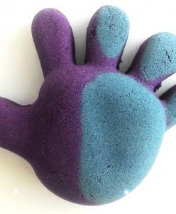Кинетический песок, меняющий цвет от тепла Фиолетовый