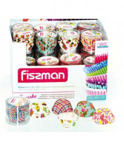 6611 FISSMAN Комплект из 120 кондитерских формочек 33x21 мм