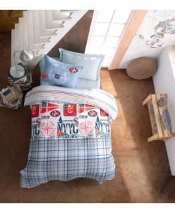 Подростковое 4-х сезонное кпб со стеганным одеялом-ranforce-