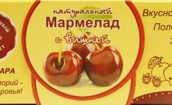 """Мармелад без сахара """"Вишня"""" 140г"""