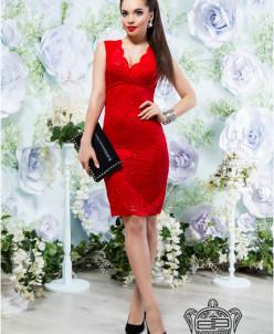 Облегающее платье из гипюра - 14111