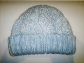 Красивая и тёплая шапка крупной вязки!!!ФЛИС