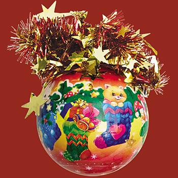 """Шар """"Рождественский"""" (Подарки Санта-Клауса), диаметр 75 мм,"""