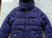 Новая Теплая Синяя курточка на 9-10 лет