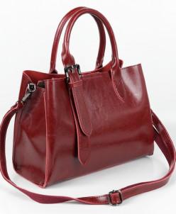 Женская кожаная сумка 18003 Вайн19