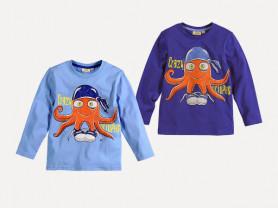 Футболка с осьминогом - голубая