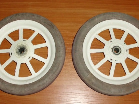 Колесо 2 шт для тележки, коляски диаметр 23 см