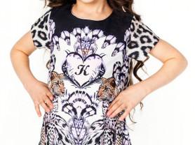 Платье Леопардики 3-12 лет
