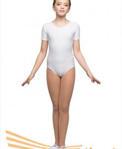 Купальник гимнастический рукав-футболка(полиамид) 2 цв.26-44
