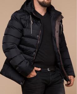 Черная практичная зимняя куртка модель 32315