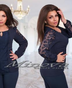 Блуза №759-1 темно-синий