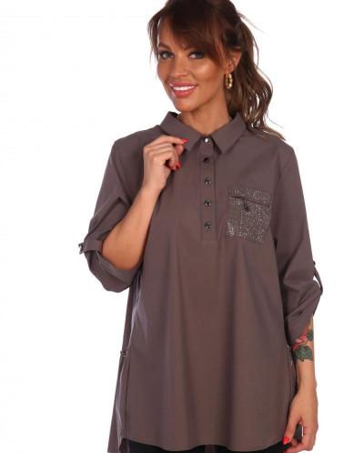 Рубашка Марджи (3320). Расцветка: капучино