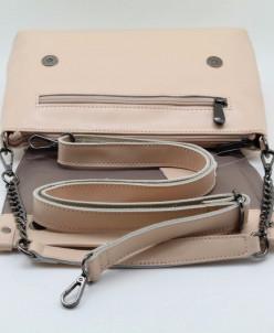 Женская кожаная сумка 2356-1 Персиковый
