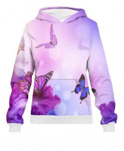 Худи женское Фиолетовые бабочки