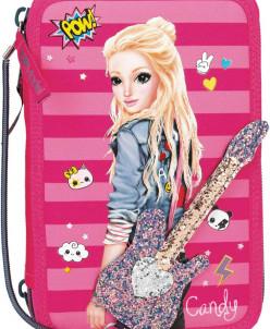 Пенал школьный Depesche  Popstar Gitarre pink m.