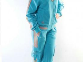 Новый небесно-голубой спортивный костюм, хлопок с