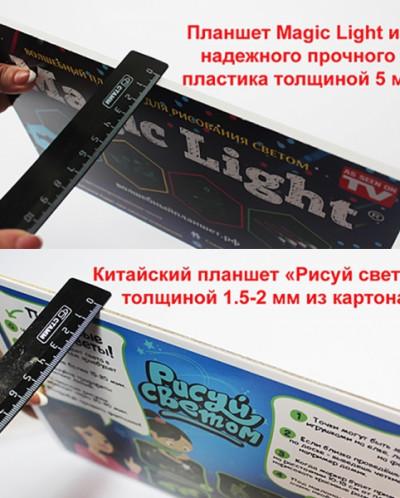 Волшебный планшет РИСУЕМ СВЕТОМ (21х30 СМ) толщиной 5 мм