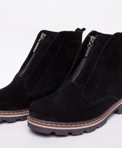 Ботинки №379-6 черный замш (идеал) 19