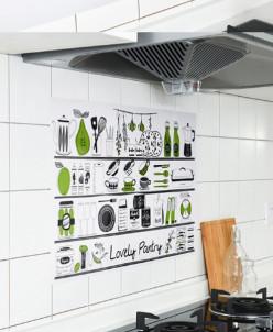 Наклейка жироотталкивающая для кухни Pantry