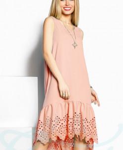 Платье с перфорацией Gepur