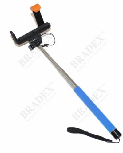 Штатив для создания снимков сэлфи голубой (Camera Stick - Se