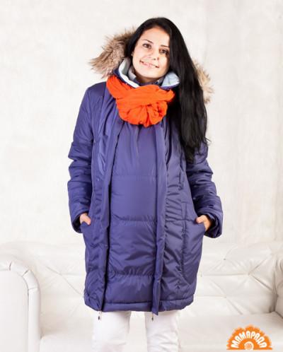 Слингокуртка-пальто зимнее «3 в 1» Виолетта изабелла р-р 48