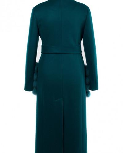 02-2851 Пальто женское утепленное (пояс)