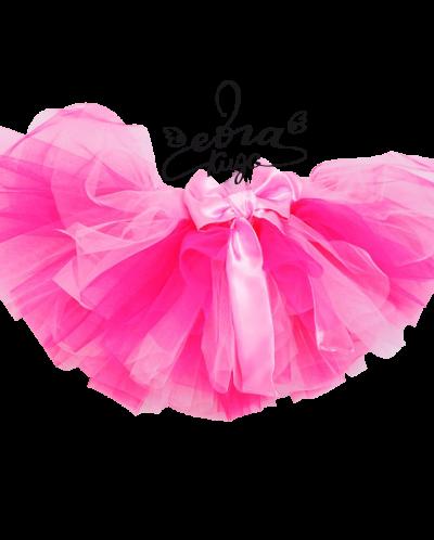 Юбка туту розовая с малиновым