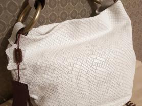 Новая кожаная сумка Gaude Италия белая