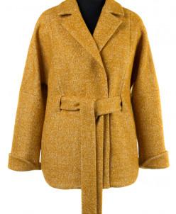01-8136 Пальто женское демисезонное (пояс) Вареная шерсть Го