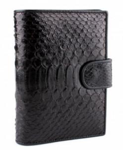Обложка-портмоне для документов из кожи питона
