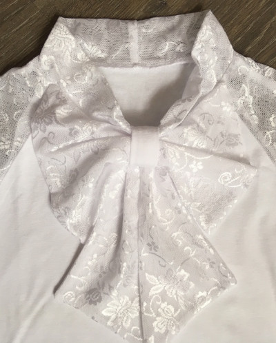 С*нежанна трикотажная блузка сирень