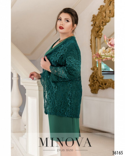 Платье №389-1-Зеленый