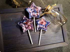 Шоколадные звезды с начинкой