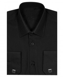 Рубашка для мальчика, Dast Cardin, арт.201, черная, Slim Fit