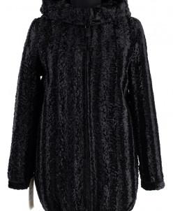 02-1331 Пальто женское утепленное Каракуль Черный