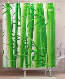Фотоштора для ванной Бамбук
