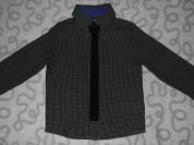 Новая рубашка F&F с галстуком, 104 см