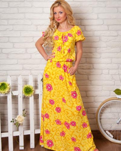 Платье № 851-желтый