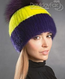 Лыжница норка фиолетовая комби