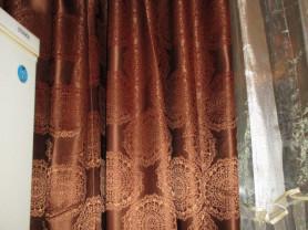 шторы шоколад 2 шт