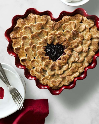 "Форма для пирога, ""Сердце"", цвет: гранат"