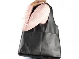Новая кожаная сумка мешок черная Италия