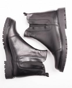 Ботинки № 409-10 черная кожа