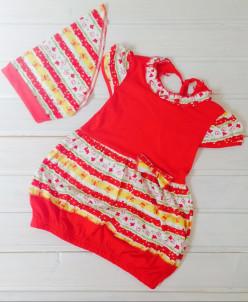 Платье Попрыгунья с косынкой