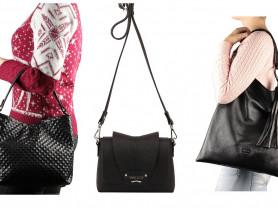 Новые черные кожаные сумки кроссбоди Италия