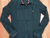 Рубашка женская Burberry. Зеленый цвет. S-L.