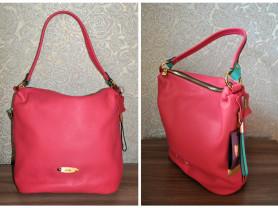 Новая сумка Gaude кожа Италия  розовая