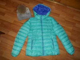 куртка grishko 44-46 и шапка с помпоном